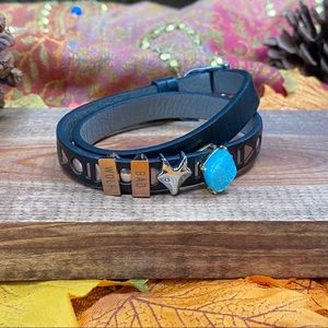 Jewelry - Doctor Who Bad Wolf charm leather bracelet